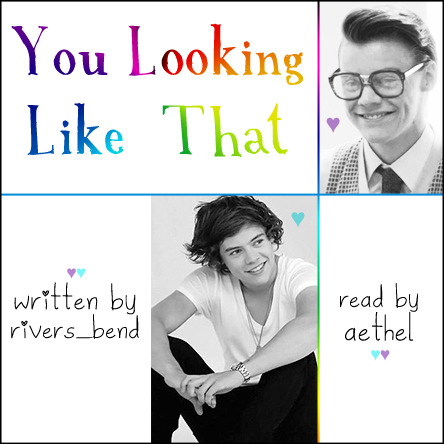 podfic cover art featuring Harry Styles and Marcel gazing adoringly at each other