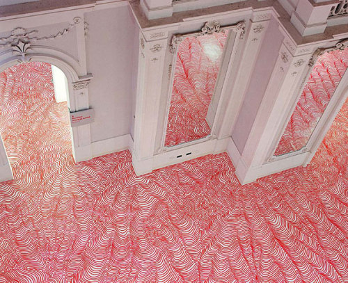 Permanent Marker Installations by Heike Weber.