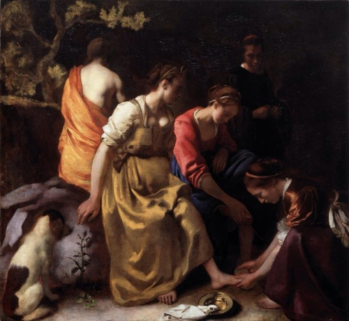 """Diana and her Companions"", 1653-54, Johannes Vermeer."