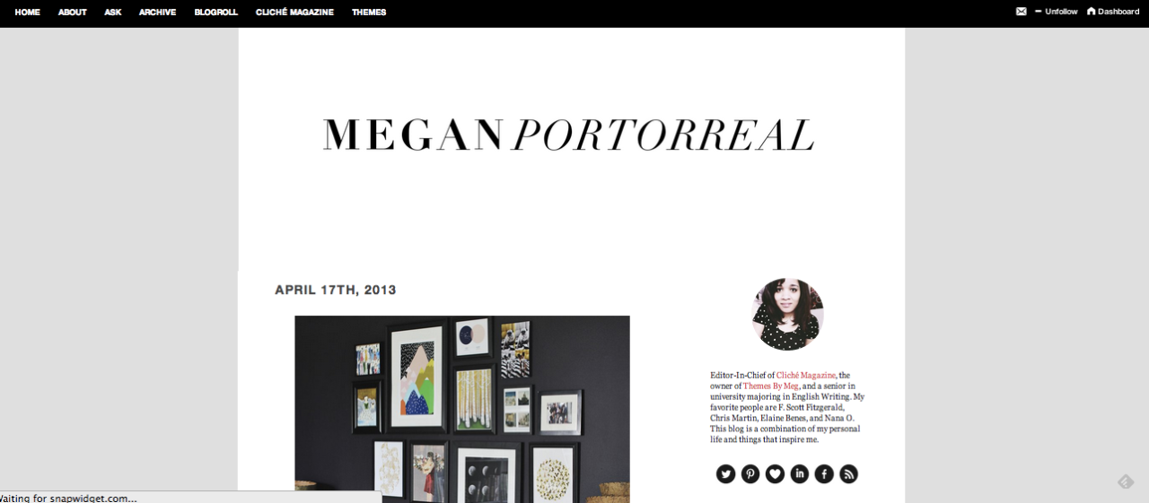 A lot of people have been asking me about my current personal blog theme, and although it is, unfortunately, not for sale at this time, my Suitcase theme comes pretty close! Hop on over here to see a live preview. Happy Sunday! x