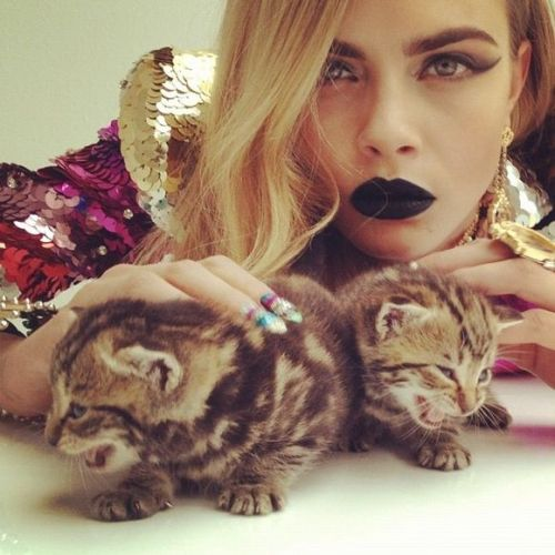 cara-dised:  Cara Delevingne by Nick Knight Pussycat, Pussycat
