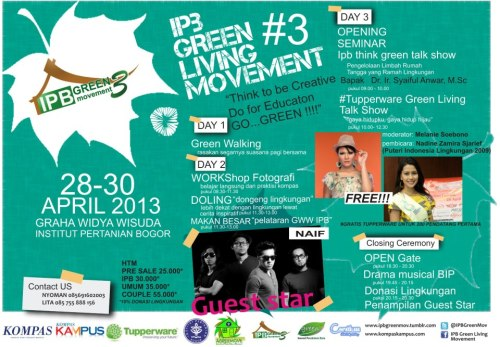 IPB GREEN LIVING MOVEMENT IN APRIL @GWW IPB…..