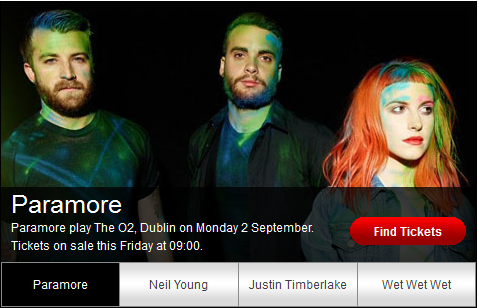 Paramore return to Dublin this Fall! Tickets are available from Friday for €33 from ticketmaster outlets nationwide!