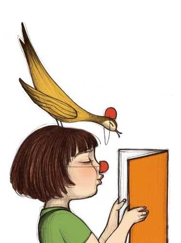 Reading and smiles / Lectura y sonrisas (ilustración de Noemí Villamuza)