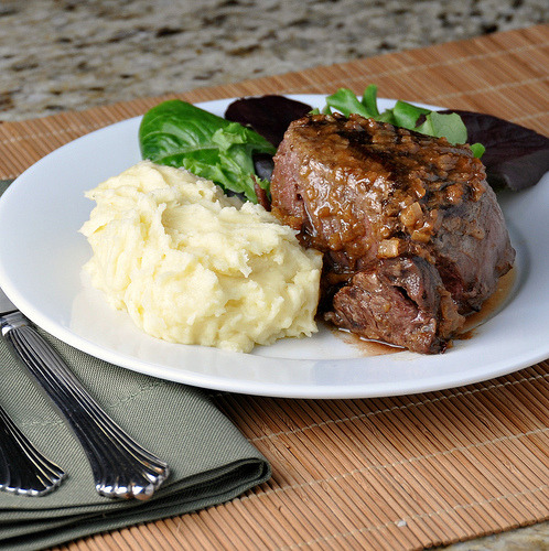 in-my-mouth:  Brandy and Mustard-Glazed Tenderloin Steak