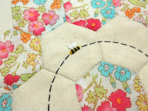 Patch Work Bee by themasonbee on Flickr.