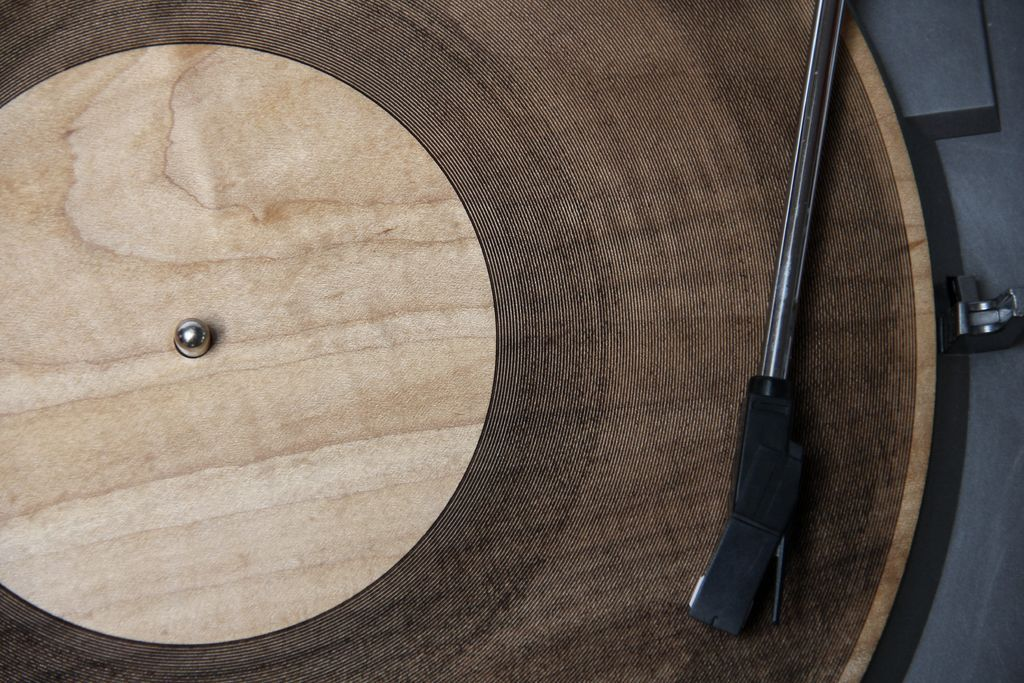 "jockohomo:  Laser-Cut Wooden Records Give New Meaning to 'Tree Rings' or 'Organic'. ""Amanda Ghassaei, creator of the 3-D printed record, is at it again, this time with lasers. Diverting from additive manufacturing to subtractive, Ghassaei etched tracks on another medium — wood — using a 120-watt Epilog Legend EXT laser cutter. The strains of Radiohead's ""Idioteque"" and The Velvet Underground's ""Sunday Morning"" are easily recognizable, but infused with an almost electric whine, a strange sound to hear emanating from a piece of wood. Ghassaei is a software engineer at Instructables, so she naturally published a how-to on the DIY site."""
