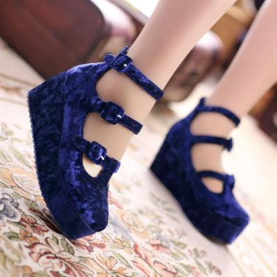 thunder-bunny:  Velvet Platform Shoes $45