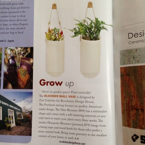 Awesome! More press love for the #Bloomer. #hempsterbloomer @oregonhomemag thanks. #oregonhome