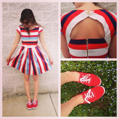 modcloth:   hwhy asked you:  Hi, I recently bought the Nautical in the World Dress and I was wondering if you show me how to wear it in cooler weather?  Hi there! I also own the Nautical in the World Dress and I love it! For spring, pair it with some cute sneaks. For cooler months, layer over it a cardigan or chambray top, navy tights and booties! Check out the Style Gallery for more inspiration. <3 Amy, ModStylist