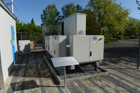 The SiC inverter at the hybrid power plant in Berlin. Image credit: GE Reports