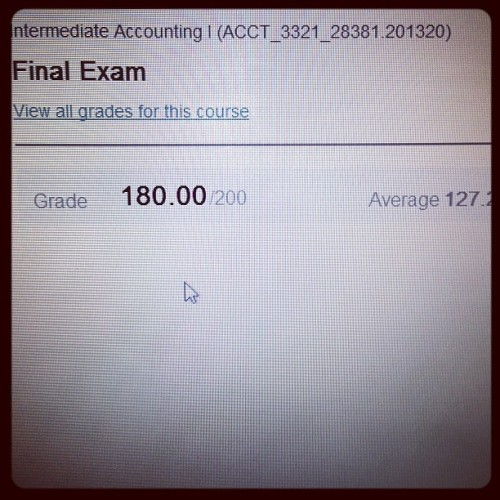BEST NEWS EVER!!! #Accounting #Finals