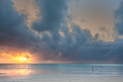 Breaking Dawn - A Morning walk on the spectacular beaches of Mnemba Island Zanzibar