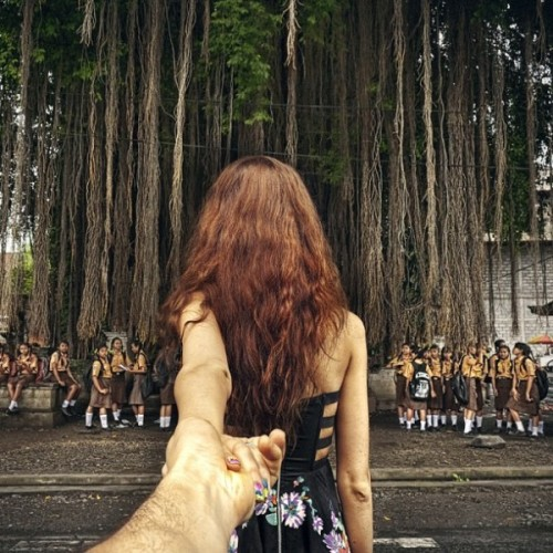 #followmeto by Murad Osmann This wonderful series is created by Russian photographer Muras Osmann as he travels the world with his girlfriend, Nataly Zakharova, leading him by the hand. The series is on his Instagram page which is linked below and it's well worth checking out to see all the exciting and exotic places his girlfriend has pulled him along to.  Artists: | Instagram |  [via: Twisted Sifter]