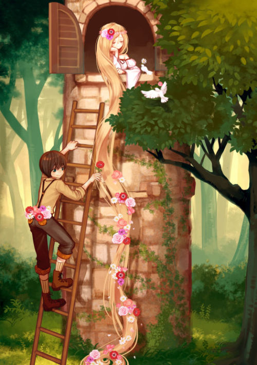 "fairytalemood:  ""Flowers in Rapunzel"" by maca"