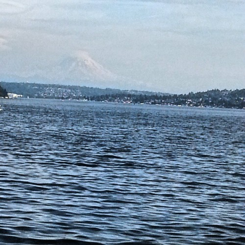 Yes that's Mount Rainer ♥ #SewardPark #Seattle #Water #God #Sun #Gorgeous #Nature #Washington #LifeStyle #Joy