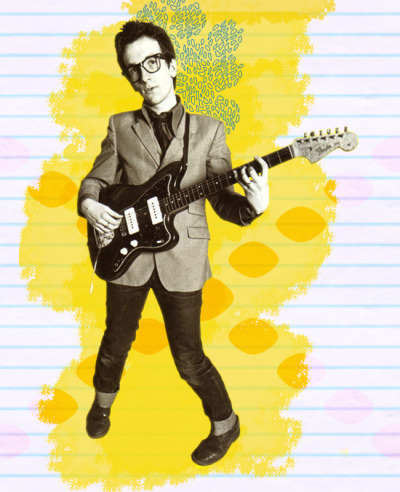 The other king: here's your Beginners Guide to Elvis Costello by Joanna. May your aim always remain true. Art by Molly.
