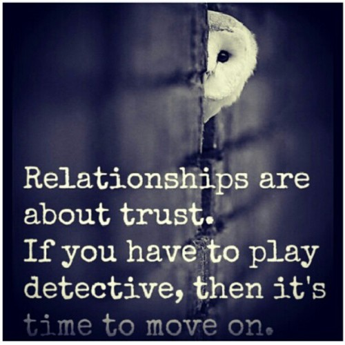 #repost For all my girls who ask me relationship questions dealing with trusting your man … Honestly, for most of you, it's all in your head and your insecurity needs to be checked. But for those of you who truly have trust issues.. It's best to let 1 of 2 things go: 1) your insanity or 2) your man.  If you can't trust him (or anyone for that matter), it's time to move on. You are either better off without him or better off alone.