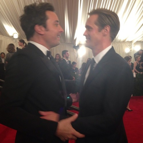 askarsswedishmeatballs:  Alex with Jimmy Fallon at the Met Gala