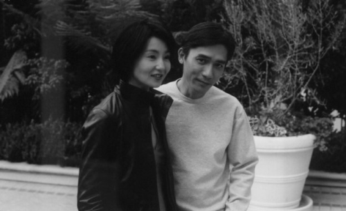 "nacerkhemir:  Maggie Cheung and Tony Leung while promoting ""In the Mood for Love"" in Los Angeles."