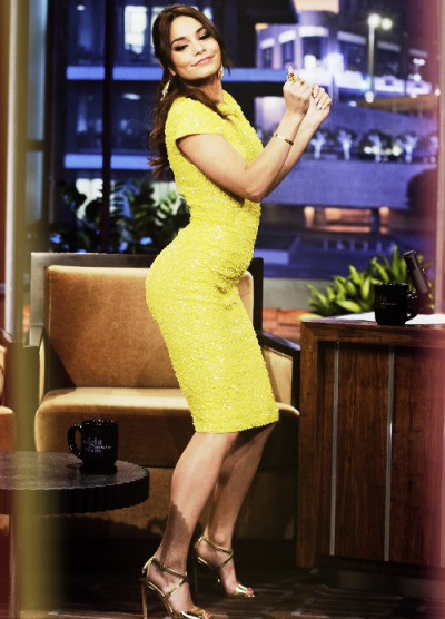 "Vanessa Hudgens appeared on 'The Tonight Show with Jay Leno' on Wednesday night in Los Angeles. Vanessa showed off her ""Booty Pop"" dance moves. Watch her pop it here…"