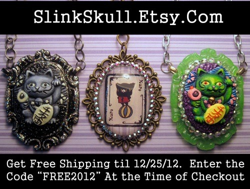 Check them out! Hand made for you at Slink Skull Studios