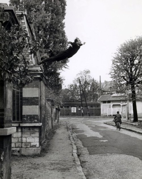 Leap into the Void Yves Klein photographed by Harry Shunk and János (Jean) Kender, 1960