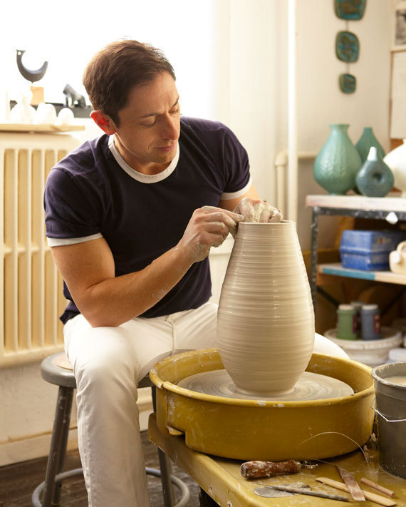 "etsy:  ""The best advice I ever got in my life was from my pottery teacher, Jackie Rice. She told me that I had no talent and I should move to New York and become a lawyer. I think every creative person, and every craftsperson, should have a naysayer to rebel against."" - Jonathan Adler  An Interview With Jonathan Adler 