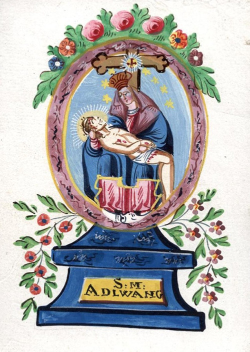 S. Maria AdlwangA devotional image of the miraculous pietà venerated in Adlwang, Austria.