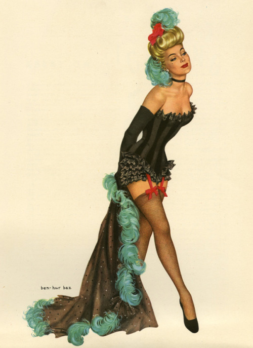 "vintagegal:  ""Curtain Call"" by Ben-Hur Baz, 1948"