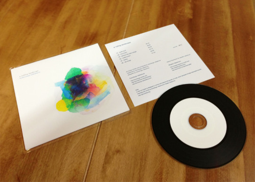 "tomotsugu:  I have prepared now handmade ""a rolling landscape"" limited CD-R.[ Beautiful paper sleeve + Photo print inner information + LP looks CD-R + 2 bonus tracks ]You can get this limited item at live space.It is ready only 10 copies for each live space. ""a rolling landscape""のハンドメイドCD-Rを各会場10枚づつ限定で用意しました。http://tomotsugu.bandcamp.com/album/a-rolling-landscape"