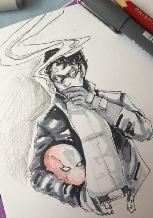 "kreetchur:  [ ""//Jason Todd and cigarettes for art request? Q u Q"" —leadandgunpowder ] I haven't drawn in a few weeks, sorry."