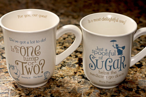 suchawonderfulday:  My cute Disney tea/coffee mugs from Hallmark. They're so cute!