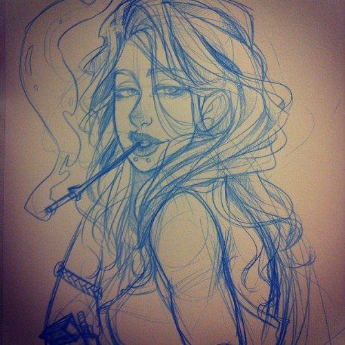 Smokin is bad for you #art #sketch