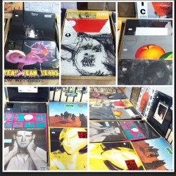 A bunch of new stuff in today. #davidbowie #wavves #jamesblake #theknife -3LP #grouper #grizzlybear #Dawes #yeahyeahyeahs #olympicrecords #vinyl #foxygen #sleep