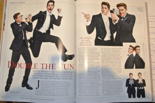 finnharries:  Very flattered to be featured in Tatler this month.