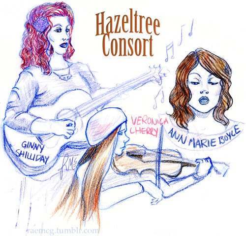 went to Hazeltree Consorts's concert and creepily sketched them from the front row. What lovely, inspiring ladies.