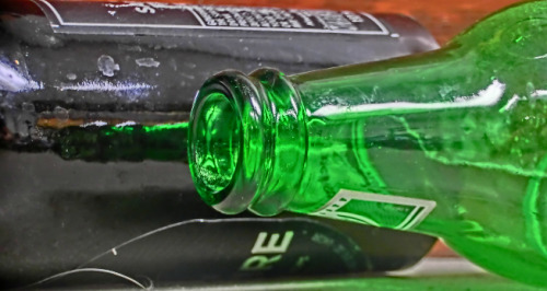 science-junkie:  Physics and Green Beer BottlesBy Rhett AllainI have a new beer rule. Avoid beer in green bottles. Just to be clear, this is a rule for myself. You can drink green bottled beer. In fact, you should always try to drink the beer that you like. For me, I will avoid the green bottles. Why? If you drink beer, you may know why. The the beer in these green bottles seem to have this extra taste that maybe is not so great.Someone (it was probably my biochemist beer brewing brother) told me that the green bottles don't block ultraviolet light. It is a reaction with the ultraviolet light that causes this taste that I don't like. Well, maybe I don't always trust my brother (even though when it comes to beer, I should). You know what happens next, right? Experiment time.  Fascinating. Why Heineken, why?