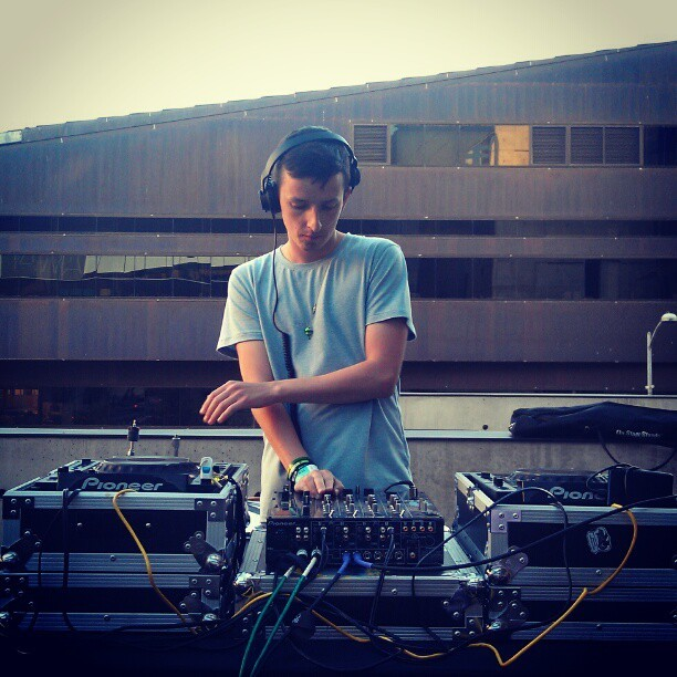Dream man djing at sunset @teedinosaurs #sxsw #nylon @nylonmag #Austin #music #mylifeinsound