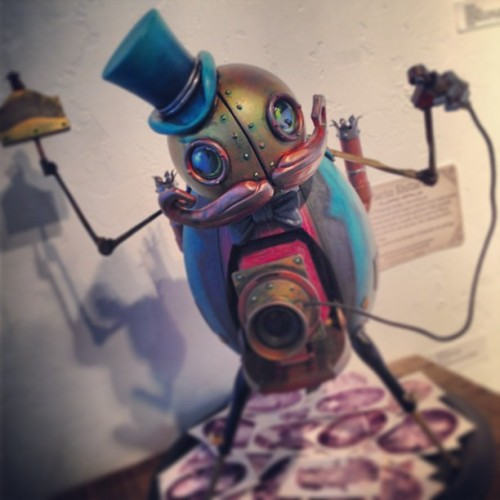 Doktor A at @strangerfactory opening tonight!!! Tiberius Shutterbug… Contact the gallery for more info! (at Stranger Factory - Fine Art Gallery + Designer Toys)