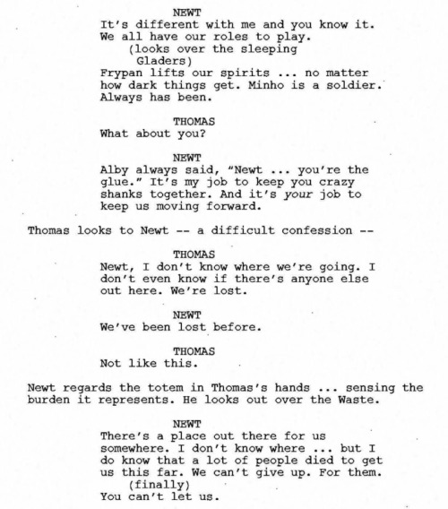 You Re Amazing Script: The Maze Runner