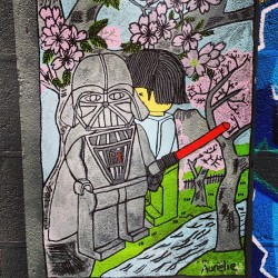 Dark Vader at the liffey river!! #streetart  #Dublin #StarWars #DarkVader