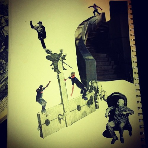 Skate collage I'm workin on #workinprogress #art#collage#nyc#newyorkcity #brooklyn #queens #sketchbook