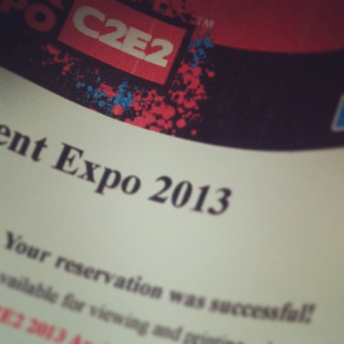 C2E2 tickets done with @tamanicole , @lchizzle and @bellechandler