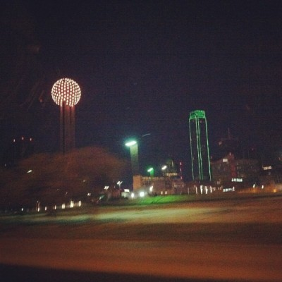 Driving home. That's a restaurant in that sphere.