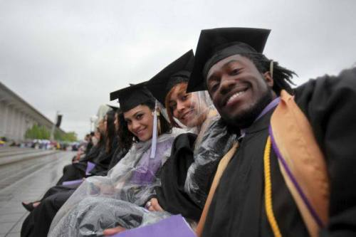 Congratulations to all our local college graduates! More photos from local commencements here: www.timesunion.com/news/article/Photos-Local-college-commencements-4525612.php -Tim  Photo: Nathalia Rivera, left, Cindy Ogando, center, and Mike Browne, right, at the graduation commencement ceremonies at the University of Albany on Sunday, May 19, 2013. (Erin Pihlaja / Special to the Times Union) http://on.fb.me/116xTfe