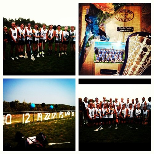 #seniornight I'm so glad that I got to play with you girls and got the opportunity to meet people that I'm more than happy I had the chance of knowing I love you guys, I'm sad it's over an I honestly wish I had more time with everything but the time spent in lacrosse made me happy so I'm thankful for everything, thank you so much everyone! 😝😍😢😄