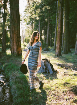 taylormccutchan:  Ricki in the woods by Viola Pentax 645Fuji pro 400h