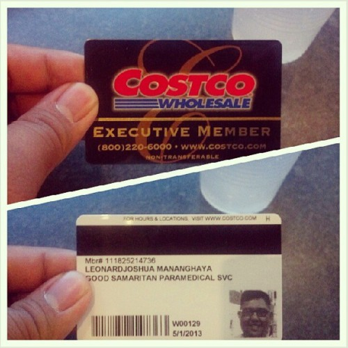 Do I feel a little bit more grown up now that I have a Costco card? Why yes, yes it does XD #Costco #ExecutiveMember #GrownUp