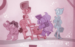 cartoon rose quartz pearl amethyst garnet steven universe